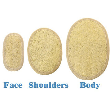 Eco Friendly Bath and Shower Exfoliating Loofah Cleansing Pads– Natural Alternative to Mesh Pouf – Best Skin Cleansing Scrubber for Body Exfoliation - by SeaSationals (3 pack Variety Set)