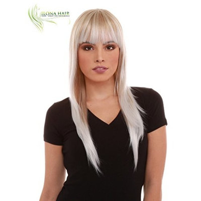 Long Wig With Bang Straight Hair For White and Black Woman Stella 2 Heat Friendly 16 colors options in different shades of Black Brown Blonde Red 100% Heat Resistant Hair peluca larga