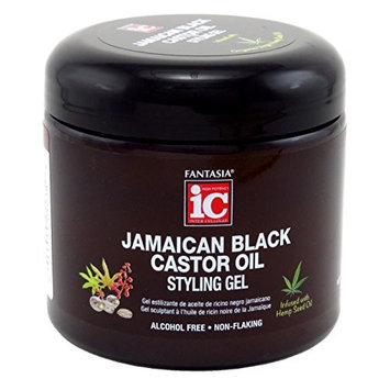 Fantasia Gel 16 Ounce Jamaican Black Castor Oil Jar (473ml) (3 Pack)