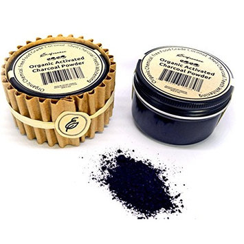 Organic Coconut Ultra Fine Activated Charcoal Powder Teeth Whitening by Ecofrenzee/ Non-abrasive and safe for enamel/ Food Grade, Meets EU & USP Standards (Organic Mint, 1 oz)