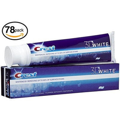 (PACK OF 78 TUBES) Crest 3D White ARCTIC FRESH Icy Cool Mint Anti-Cavity & TOOTH WHITENING Toothpaste. Removes Up to 90% of Surface Stains on teeth! REFRESHING MINT FLAVOR! (78 Tubes, 4.8oz Each Tube): Health & Personal Care