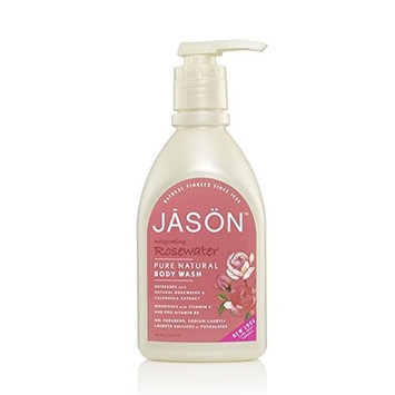 Glyc. & Rosewater Satin Body Wash with pump-900 ml Brand: Jason Naturals