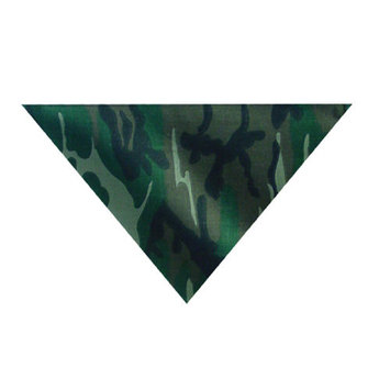 Zanheadgear BV011 3-IN-1 Bandanna with Velcro Closure, 100% Cotton, Woodland Camouflage [Woodland Camouflage]