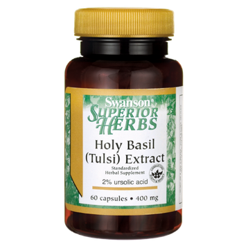 Swanson Holy Basil Extract (Tulsi) 400 mg 60 Caps
