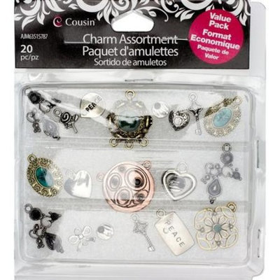 Generic Cousin Designs by Me Assorted Metal Charm Box, 20pc