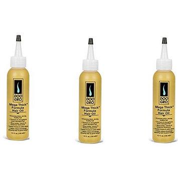 [VALUE PACK OF 3] DOO GRO MEGA THICK FORMULA HAIR OIL 4.5oz : Beauty