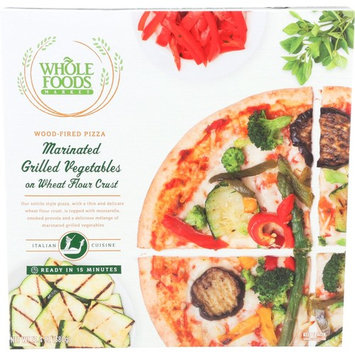 Whole Foods Market, Marinated Grilled Vegetables on Wheat Flour Crust Wood-Fired Pizza, 13.4 oz, (Frozen)