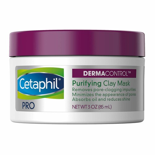 Cetaphil Pro Dermacontrol Purifying Clay Mask with Bentonite Clay for Oily, Sensitive Skin, 3 oz Jar