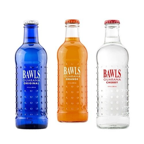 BAWLS Guarana Variety Pack, 3 Flavors (Original, Cherry, Mandarin Orange), 10 Oz. Bottles, (Pack of 8)