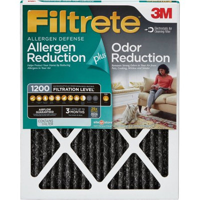 3M Filtrete Allergen Plus Odor Reduction Air and Furnace Filter, 18x24