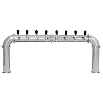 Ubc Group Arcadia Draft Tower - Stainless Steel - Glycol Cooled - 8 to 14 Taps: 14 Faucets (Width 61)