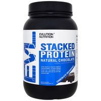 EVLution Nutrition, Stacked Protein, Natural Chocolate, Chocolate Decadence, 2 lb (909 g) [Flavor : Chocolate Decadence]