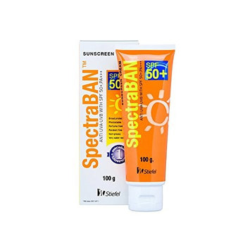 Sunscreen Spectraban Sunscreen Cream Spf50+ Pa+++ Sunblock for Face and Body Protection 100g.