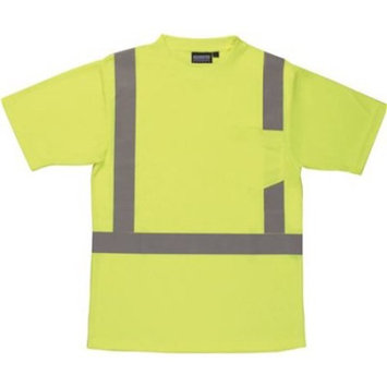 ERB Safety 9601S Ansi Class 2 T-Shirt Short Sleeve W/Reflective Tape