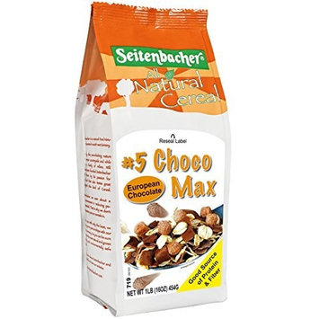 Seitenbacher Natural Cereal Musli #5 Choco Max, 16 Ounce (Pack of 6)