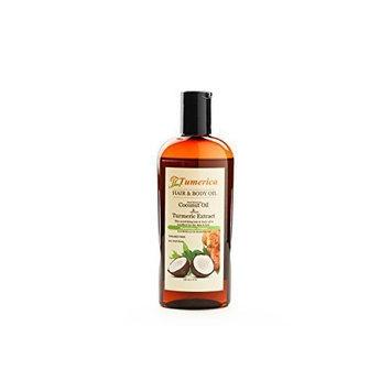 Tumerica Hair and Body Oil, Coconut & Turmeric, 8 Ounce