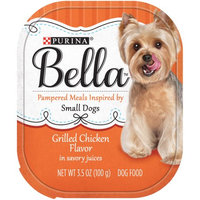 Nestle Purina Bella Grilled Chicken Flavor in Savory Juices Adult Wet Dog Food Case of 12- 3.5 oz. Trays