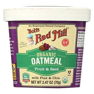 BOB'S RED MILL, OATMEAL, OG2, CUP, FRT&SD, GF, Pack of 12, Size 2.47 OZ - No Artificial Ingredients Gluten Free 95%+ Organic