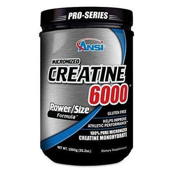 ANSI - Micronized Creatine 6000 - 100% Pure Creatine Monohydrate (1000 gram) by Advance Health Nutrition