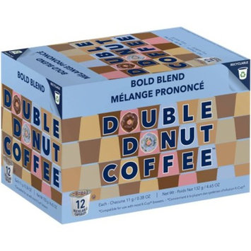 Double Donut, Bold Blend Coffee in Recyclable Single Serve Cups, 24 Ct