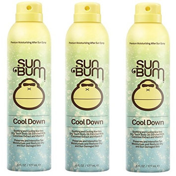 Sun Bum Cool Down Hydrating After Sun Spray fldgpO, 6oz Bottle, Hypoallergenic, Aloe, Cocoa Butter, 3 Pack