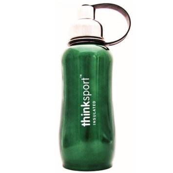 Thinksport Stainless Steel Insulated Sports Bottle, Green, 25 oz