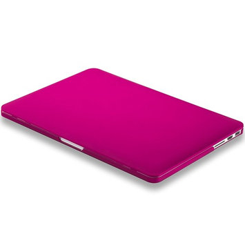 Kuzy RASPBERRY PINK Rubberized Hard Case Cover for Apple MacBook Pro 15.4