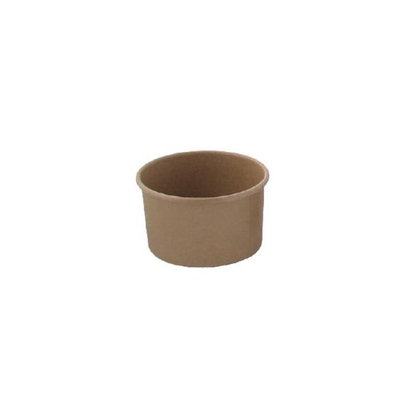 Packnwood 210POB121 4.2 oz Brown Kraft Hot & Cold Paper Cup
