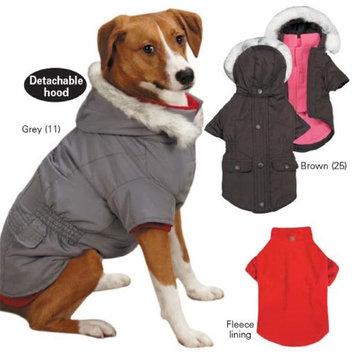 Pet Edge Dealer Services East Side Coll 3 in 1 Eskimo Dog Jacket XS Brown