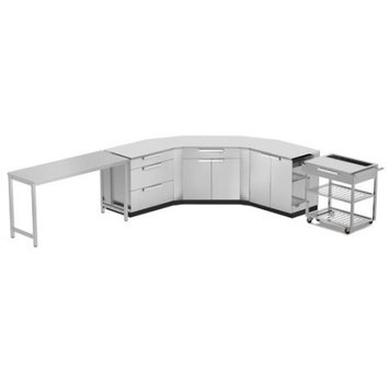Newage Products Stainless Steel Classic 10-Piece 150x36x86 in. Outdoor Kitchen Cabinet Set