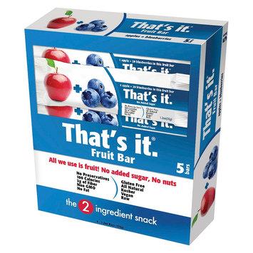 That's It Nutrition, Llc That's it. Blueberry Energy Bars 6 oz