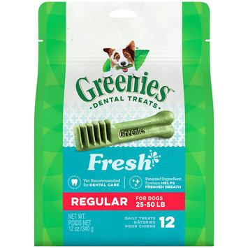 Greenies Freshmint Dental Chews 4.5lb Regular (6 x 12oz)