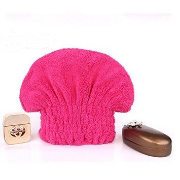 G2Plus Sweet Superfine Fiber Soft Headband & Hair Dry Hat Cap Towel Bath Head Wrap Turban with Lovely Bowknot (Rose)