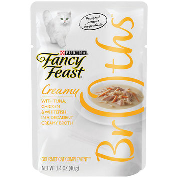 Fancy Feast® Wet Cat Food With Chicken & Whitefish In A Decadent Creamy Broth
