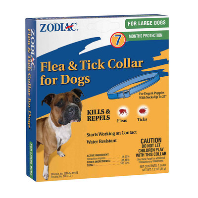 Farnam Pet 950694 Large Zodiac Flea & Tick Collar, 7 Month