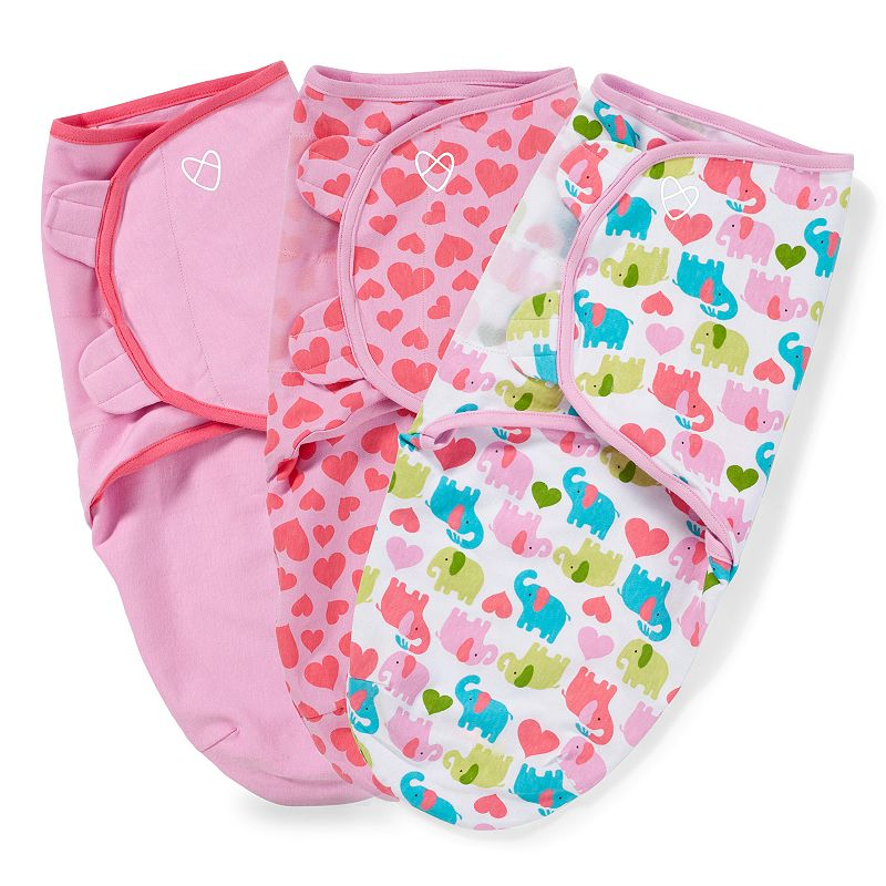 Baby Girl SwaddleMe 3-pk. Adjustable Infant Swaddles, Pink