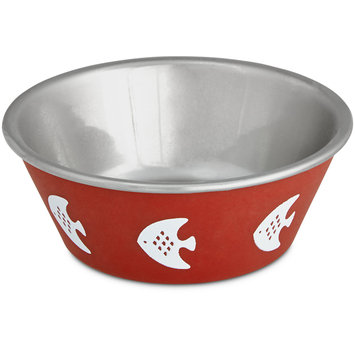 Harmony Red Fish Stainless Steel Cat Bowl, 1 c.