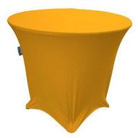 LA Linen TCSpandex30Rx30H-GoldX14 Round Spandex Tablecloth Gold - 30 x 30 in.