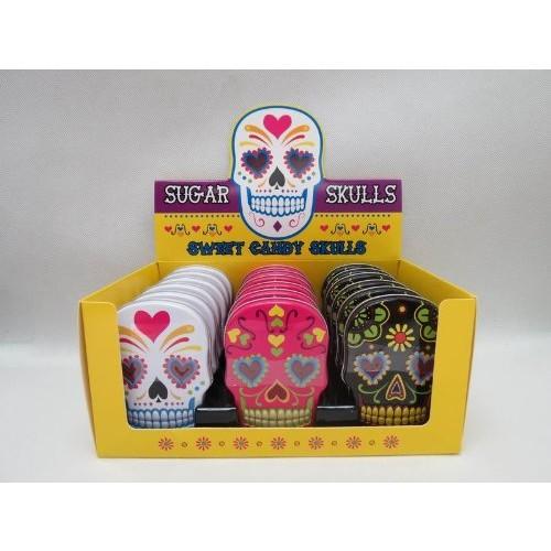 Boston America Sugar Skulls Candy Tin (random color)