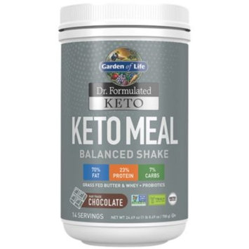 Keto Meal - CHOCOLATE (24.69 Ounces Powder) by Garden of Life at the Vitamin Shoppe