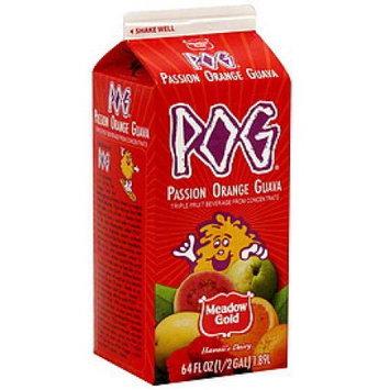 Borden, Inc. POG Triple Fruit Beverage from Concentrate, Passion Orange Guava, 64 fl oz (0.5 gl) 1.89 l