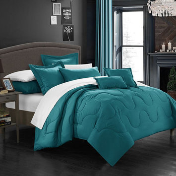 Donna Comforter Set, King, Teal