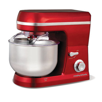 Morphy Richards Red 'Accents' stand mixer 400010