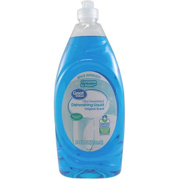 Great Value Ultra Concentrated Dishwashing Liquid, Original Scent, 24 oz
