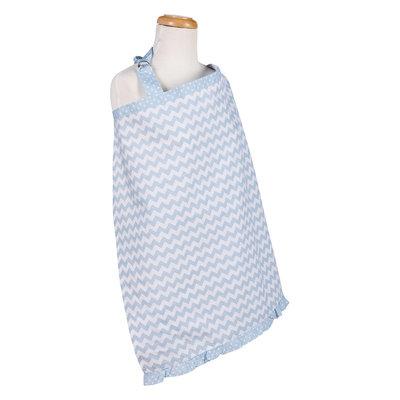 Trend Lab Sky Chevron Nursing Cover, Blue