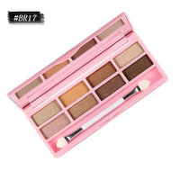 8 Colors Eyeshadow Palette - Smoky Natrual Naked Make up Eye Kit with Mirror, Double-ended brush and case (WARM)