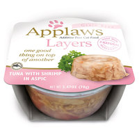 Applaws Cat Layers Tuna with Shrimp, 2.47 oz, Case of 12