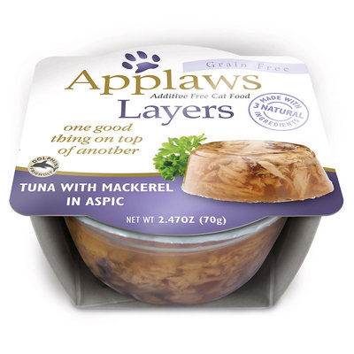 Applaws Cat Layers Tuna with Mackerel, 2.47 oz, Case of 12
