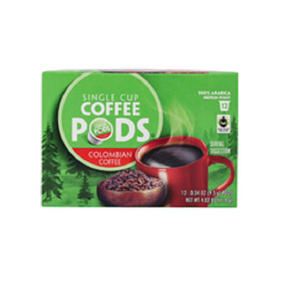 Colombian Fair Trade Single Serve Coffee Pods