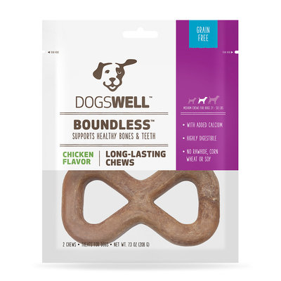Dogswell Boundless Medium Chicken Dog Chew, 2-pack